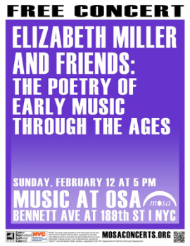 Poster for Elizabeth Miller on February 12